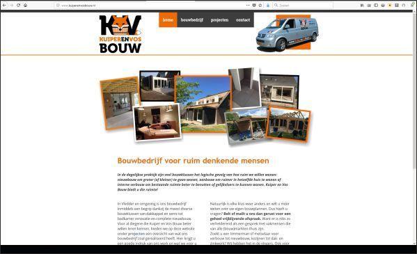 website voor Kuiper en Vos Bouw